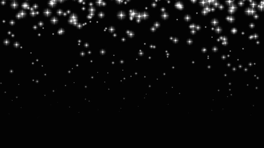An Abstract Animation Of Bright Small Stars Falling In
