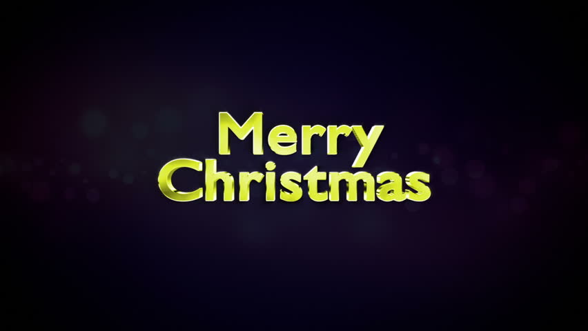 Merry Christmas Text in Particles