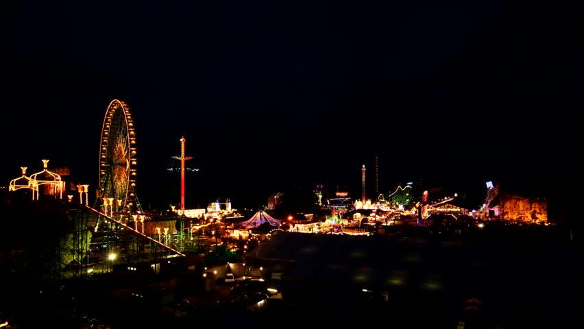 funfair - time lapse Funfair in Dsseldorf, Germany - HD stock video clip