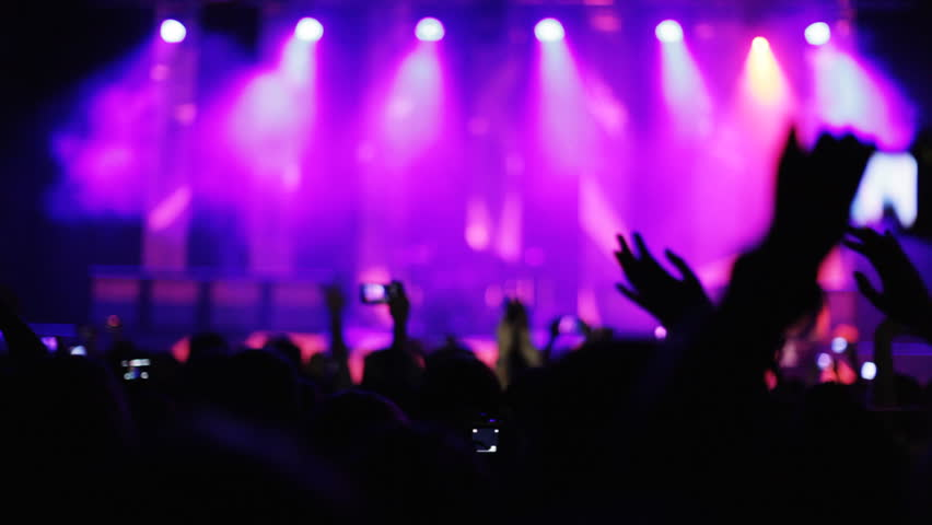 Real Concert Crowd Dance Stock Footage Video 1199668