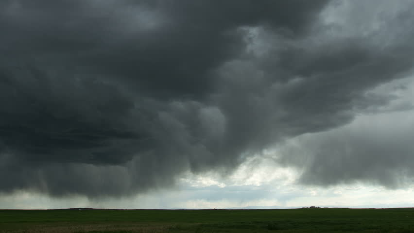 Ominous Storm clouds in eastern Colorado; part of the same storm system that
