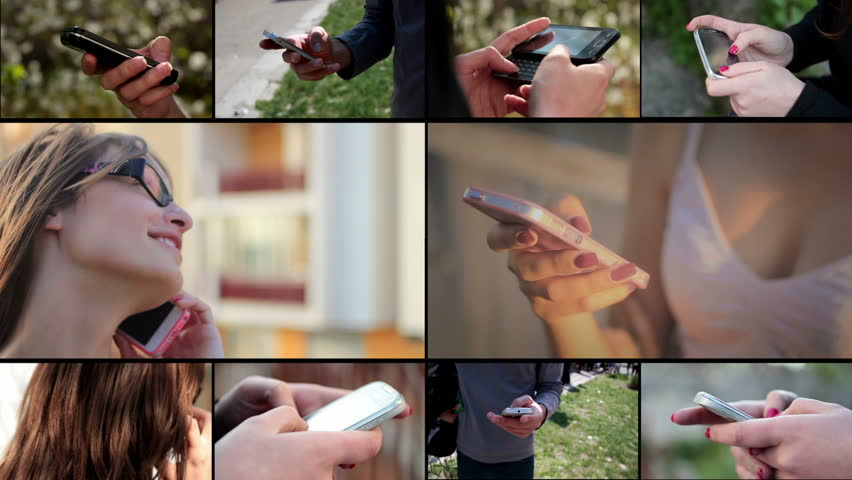 People with smart phone (mobile phone) - multiscreen   Shutterstock HD Video #4926200