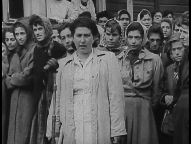 1940s - Footage of Belsen Nazi Concentration Camp victims. - SD stock footage clip