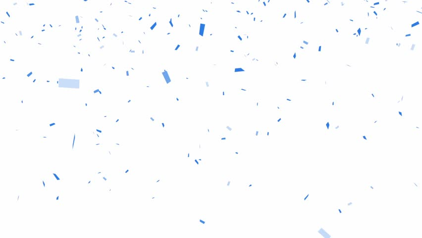 Blue Confetti - alpha channel included  - HD stock footage clip