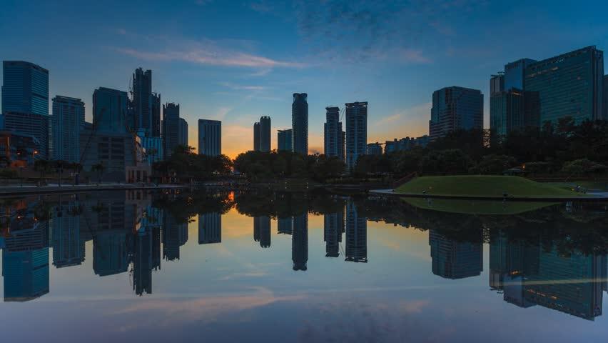 city sunset time lapse 720p