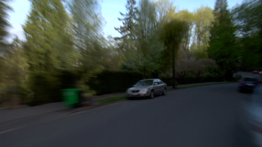 Residential driving time lapse on NW Thurman street in Portland, OR. pov - HD stock video clip