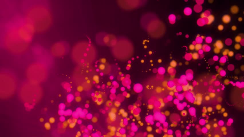 Hot Pink And Orange Twinkling Bokeh Background Stock ...