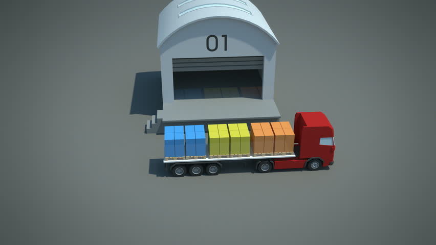 load / shipment consolidation strategies - simple consolidation - stylized high quality 3d animation