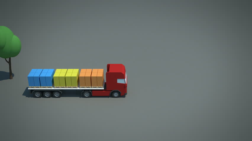 load / shipment consolidation strategies - inbound pooling - multiple origins - stylized high quality 3d animation