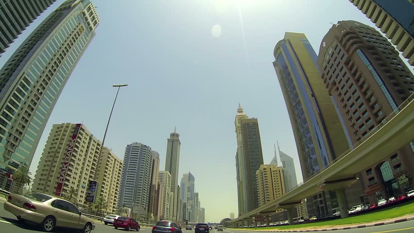 United Arab Emirates,Dubai-June 2013.Driving through Dubai streets,day light | Shutterstock HD Video #4991126
