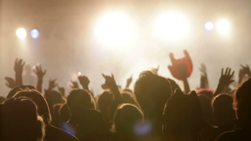 Concert crowd, slow motion, also normal speed version of this video available in my portfolio | Shutterstock HD Video #5019683