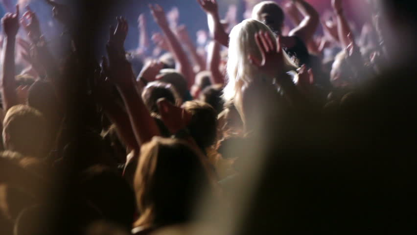 Concert crowd, slow motion, also normal speed version of this video available in my portfolio | Shutterstock HD Video #5019989