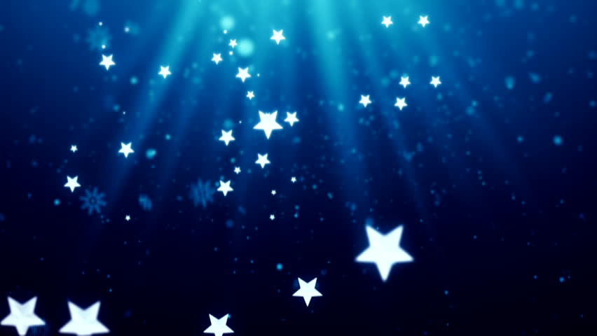 Retro Stars On Blue Night Sky Looping Abstract Animated Background Stock Footage Video 686740 ...