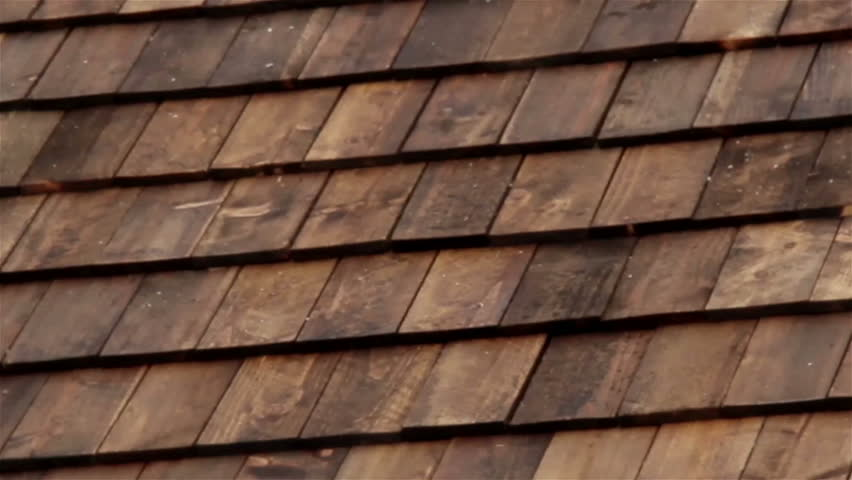 Closer Image Of The Wooden Roof Tiles Attached Recently At
