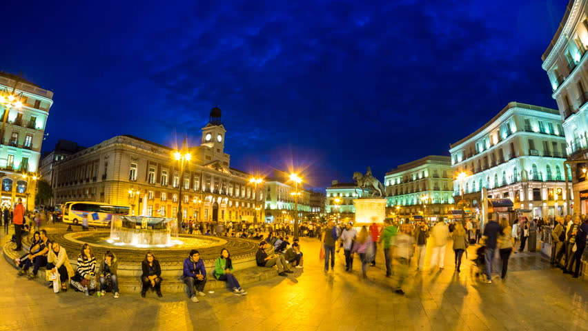 Madrid 25 oct timelapse view of puerta del sol one of for Puerta del sol 9 madrid