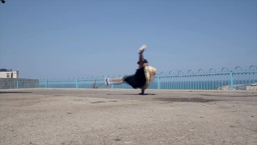 Beautiful Break Dance on the Street
