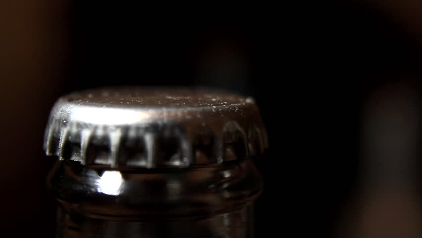 Opening Bottle of Beer - Close Up 2