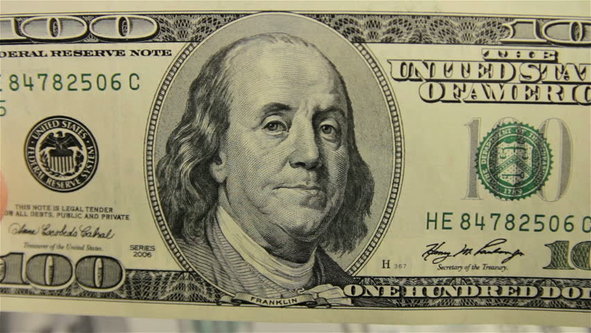 Money reviewing. Close-up shot. - HD stock footage clip