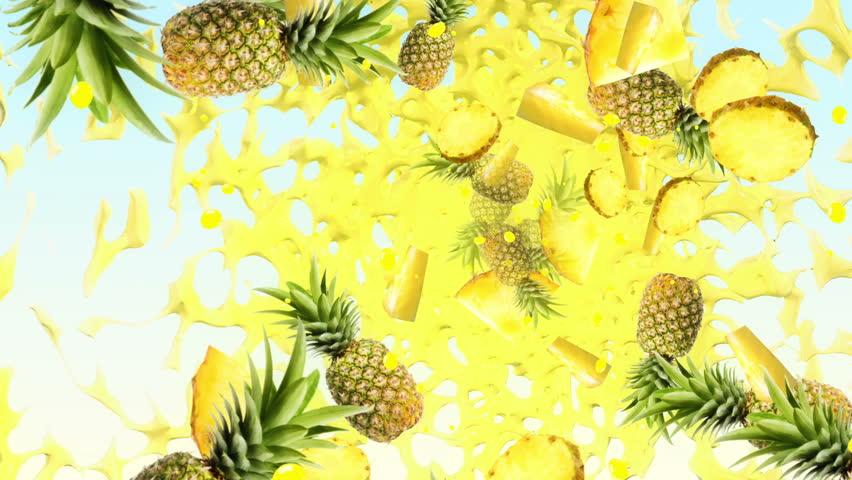 Pineapple Fresh Background