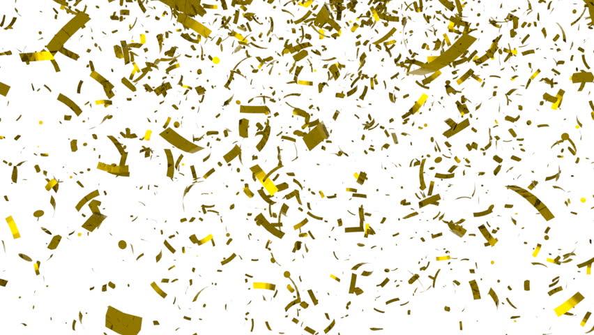 Falling Golden Confetti On Black Background. HQ Seamless ...