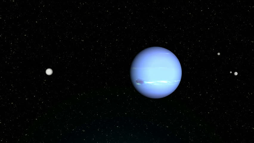 """Neptune planet, Solar system planets : Neptune """"Textures planets furnished by NASA"""" - HD stock footage clip"""