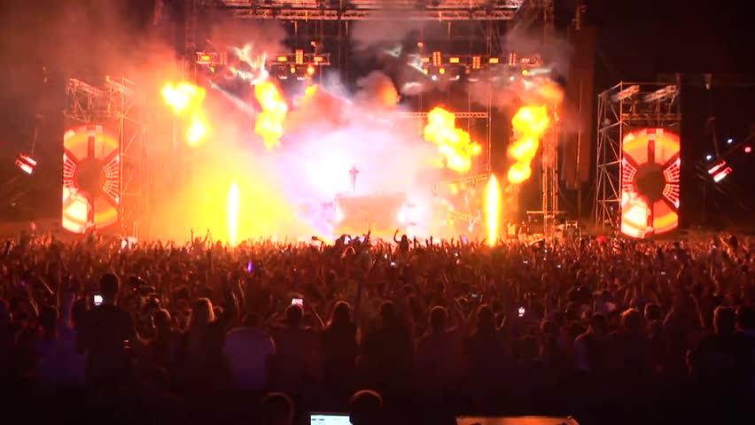 Giant Concert Crowd