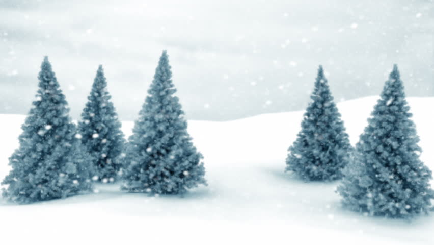 Snow and Christmas trees. HD 1080. Seamless loop | Shutterstock HD Video #5174159