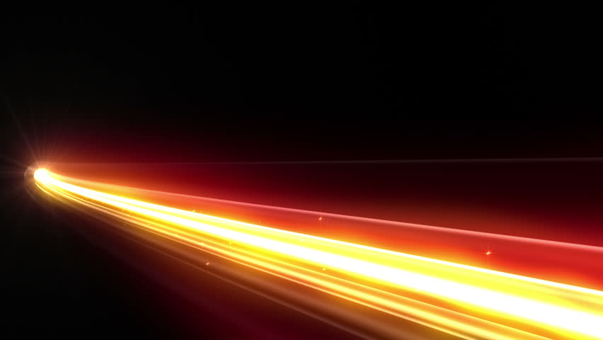 Colorful Light streaks.