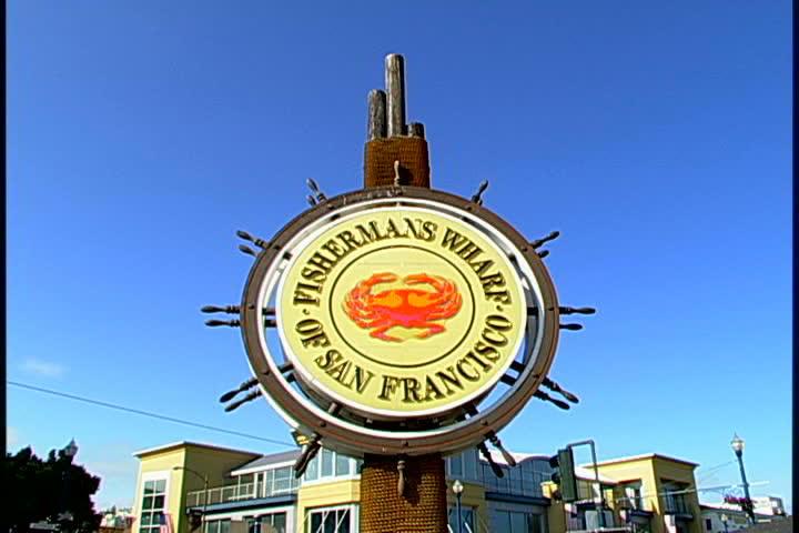 Fisherman's Wharf - SD stock video clip