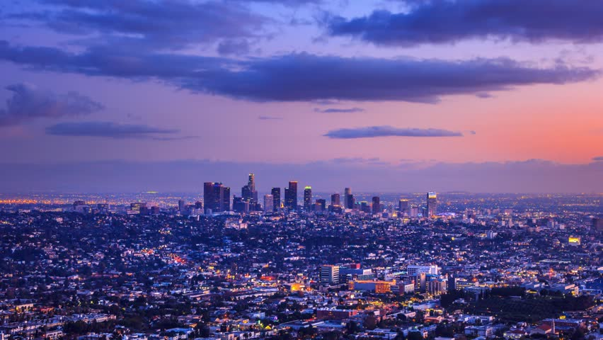 Los Angeles city changing from day to night. Timelapse. | Shutterstock HD Video #5212535