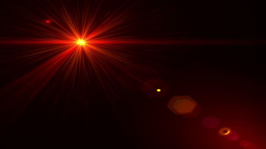 Lens Flare Effect On Black Background Laser Stock