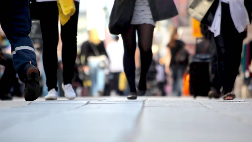 time lapse of day time pedestrians - HD stock footage clip