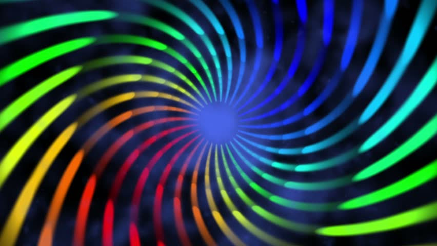 colorful hypnotic spiral iris vortex abstract motion background for use with music videos - HD stock footage clip