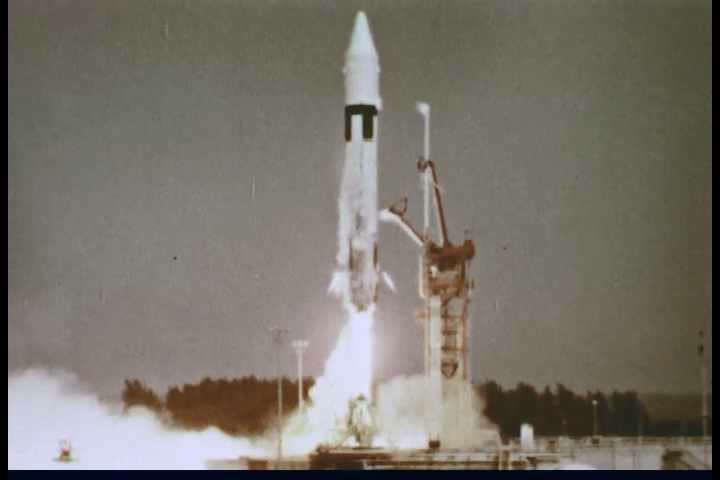 Silent color footage of various Air Force missile launches from the pre-NASA era.
