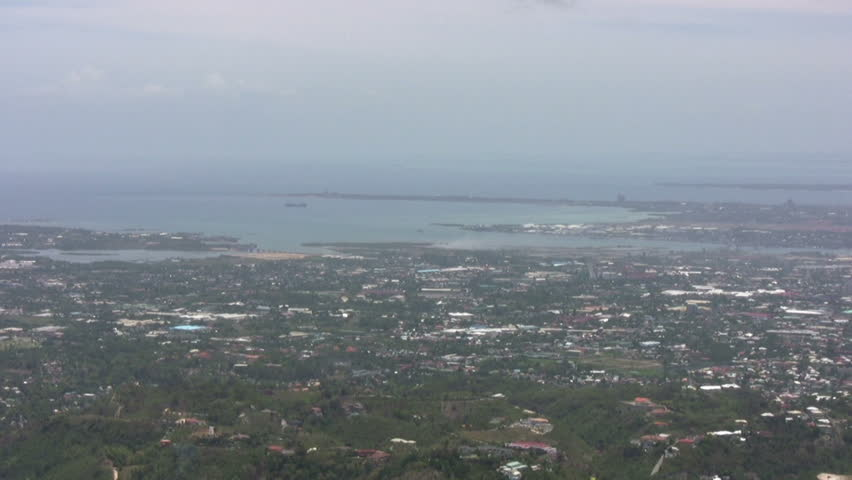 View of Cebu city, Philippines - HD stock footage clip