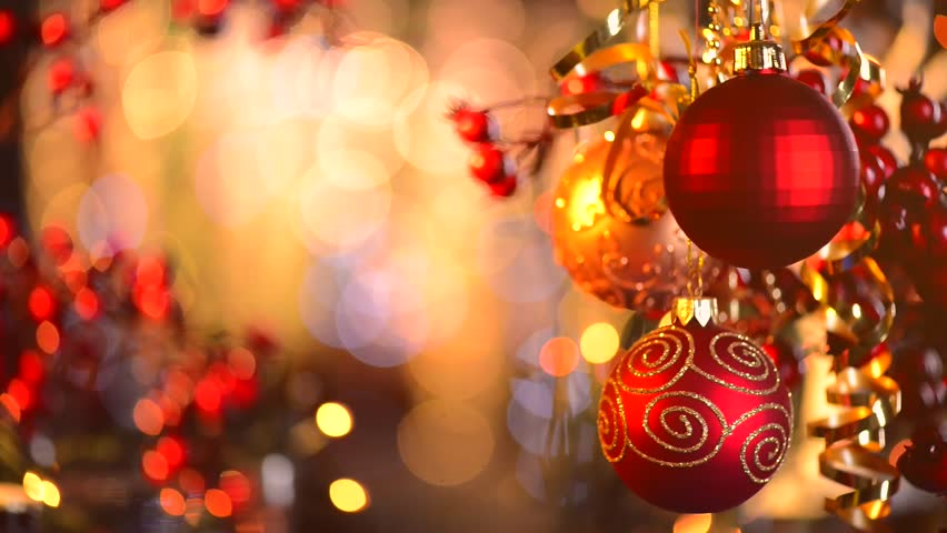 Christmas and New Year Decoration. Abstract Blurred Bokeh Holiday Background. Blinking Garland. Christmas Tree Lights Twinkling. | Shutterstock HD Video #5292194