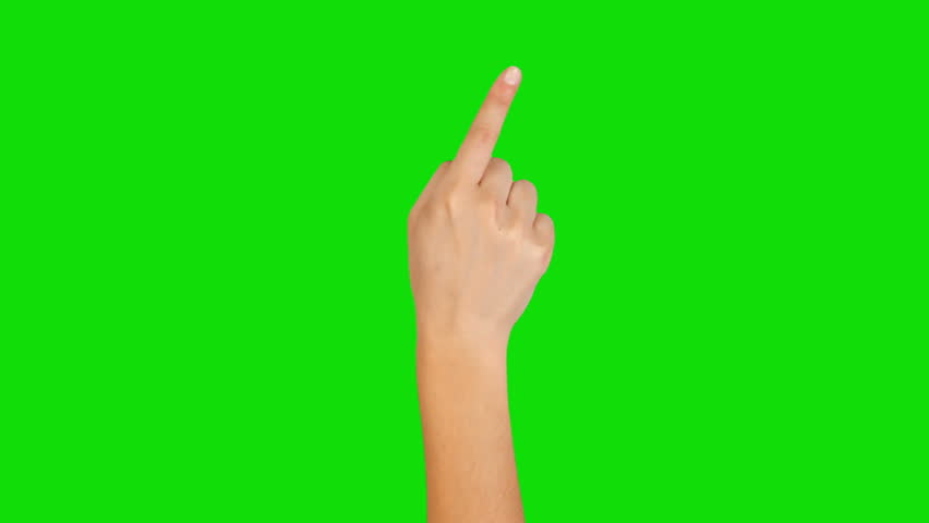 16 Hand gestures. Touchscreen. Female hand showing multitouch gestures in green screen. MORE OPTIONS IN MY PORTFOLIO. - HD stock footage clip