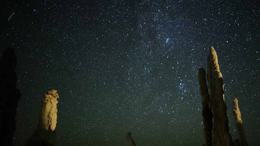 4K Mono Lake Perseid Meteor Shower 05 Dolly R Milky Way Time Lapse