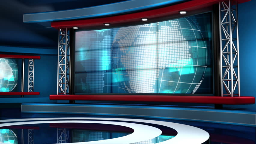 This looping news set is the perfect backdrop for any green screen or chroma key video production.  It features a  clean and modern layout with subtle animation and imagery. | Shutterstock HD Video #5317178