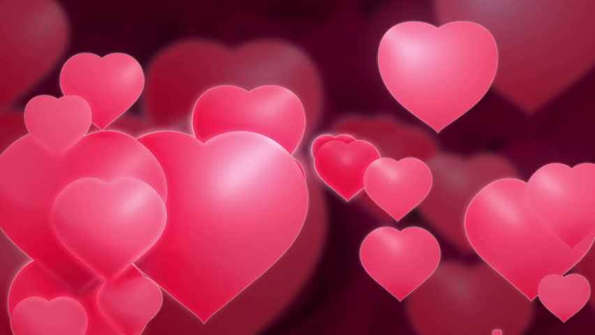 Heart animation motion graphics for valentines day, red ...