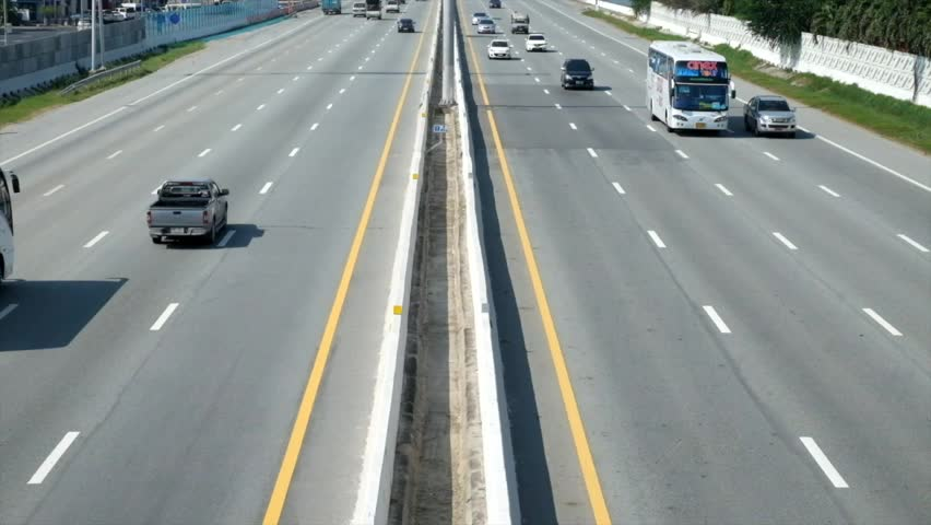 Traffic in motor way 30s - HD stock footage clip