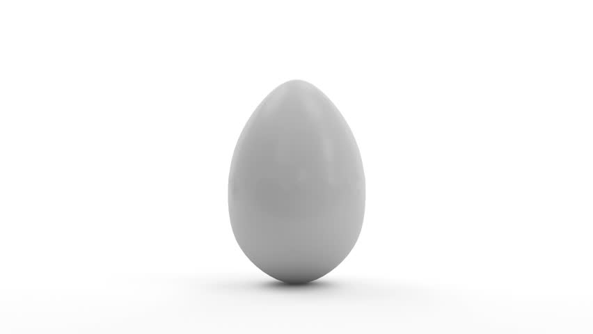 Broken Egg with place for Your Object. HQ Animation with Alpha Channel