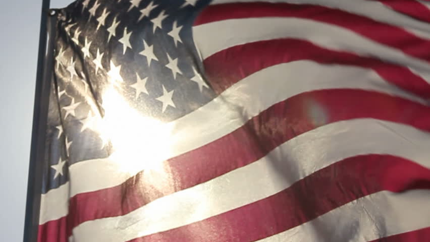 AMERICAN FLAG IN SLOW MOTION - HD stock footage clip