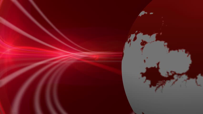 Breaking News Rotating Earth Red Motion Background Image ...