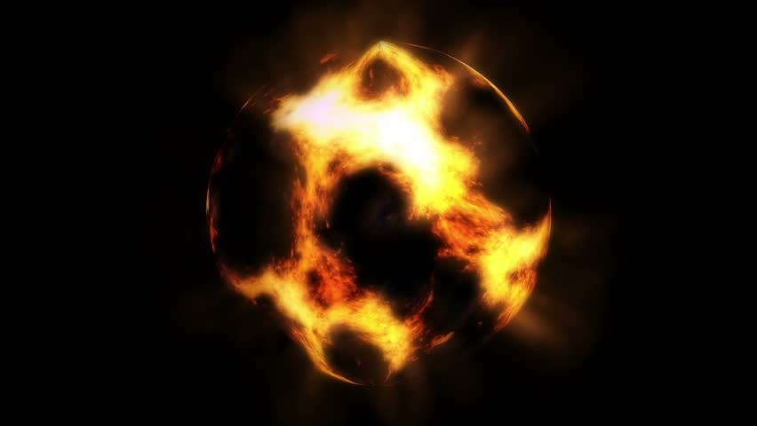 Fireball animation HD stock footage. A fireball type animation that is glowing orange animated background.