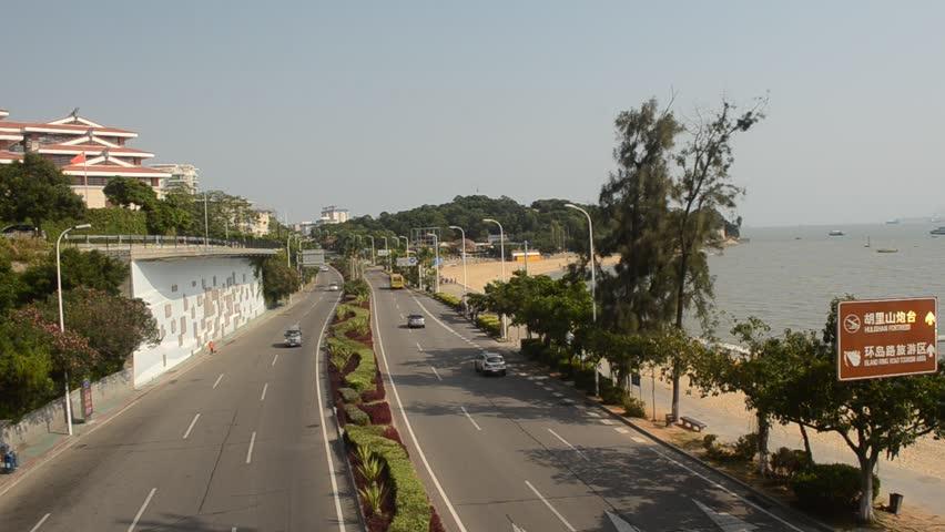 View over maritime road in XIamen   Shutterstock HD Video #5415755
