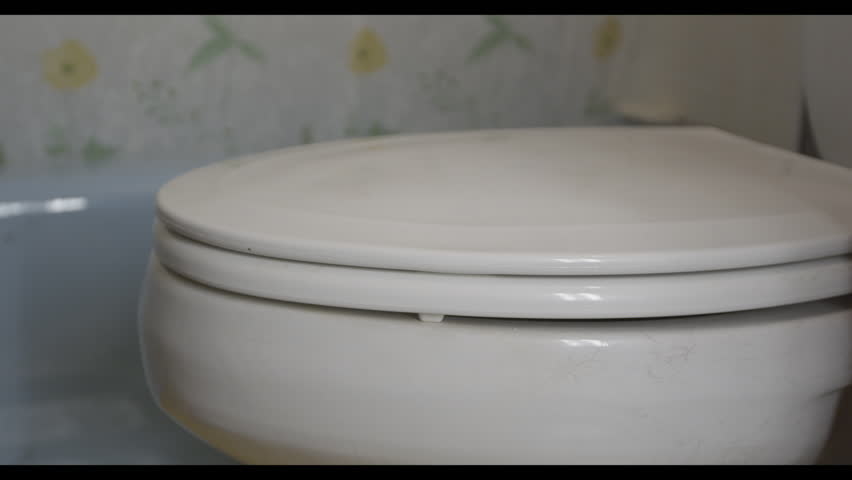 Opening lid of toilet