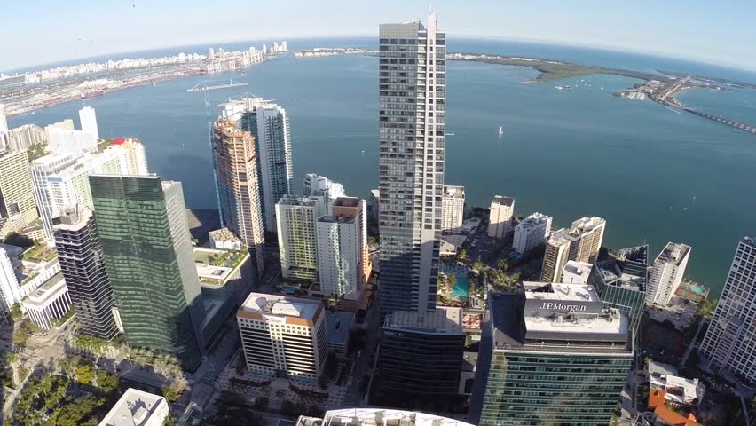 Aerial footage of Brickell Miami | Shutterstock HD Video #5498996