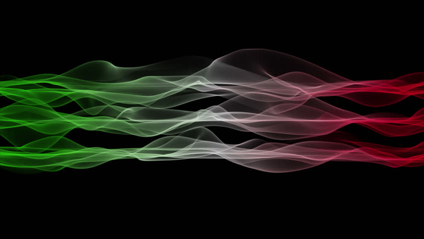 Wonderful Italian color flag video animation for sport events, 4096x2304 loop 4K | Shutterstock HD Video #5508932