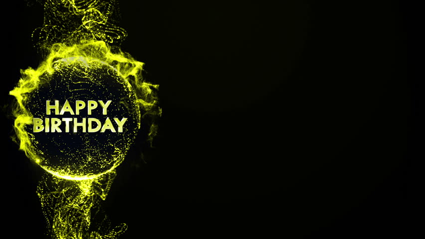 Happy Birthday Gold Text in Particles | Shutterstock HD Video #5517311